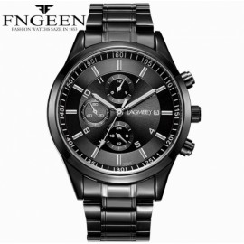 Luxury Men's Watch 30m Waterproof Date Clock Male Sports Watches Men Quartz Casual Wrist Watch black 25cm