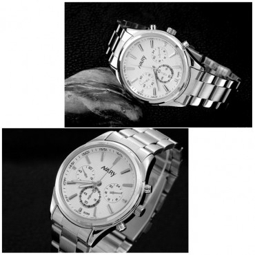 2Pcs/Set Couple Watches New Style Men's And Women's Watches Waterproof Quartz Watch silver one size