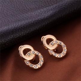 5 piece/Set New alloy Necklace Pendant Earring Studs Bracelet Wedding Rings Women Men Jewellery gold 51CM-80CM