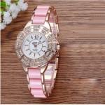 Diamond Ms Watch Upscale Fashion Trend Bracelet Women's Clothing Female Table Diamond ladies Watch Gold Pink