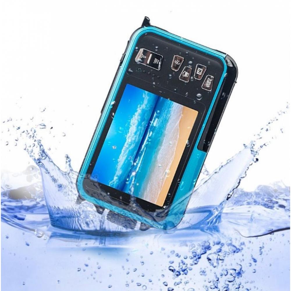 1080P HD Double Screen Digital Camera Waterproof DV Camera (Blue)
