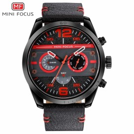 MINI FOCUS Top Luxury Brand Watch Famous Fashion Sports Men Quartz Watches Gift For Male MF0068G red one size