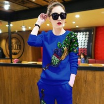 Sleeve Shirt Autumn Winter Casual Trousers Suit Sport Cloth Tracksuit Women Hoodie Hooded Women E