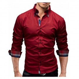 Men Shirt Business Men'S Slim Fit Shirt Male Long ..