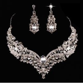 FH Brand Hot Bride Alloy Inserts Diamond Necklace ..