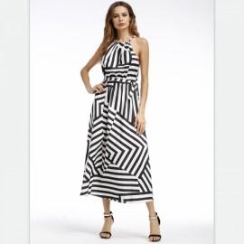 Fashion Casual Summer women dress Print Geometric ..