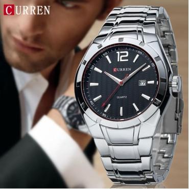 CURREN 8103 Luxury Brand Analog Display Date Men's Quartz Watch Casual Watch Men Watches black one size