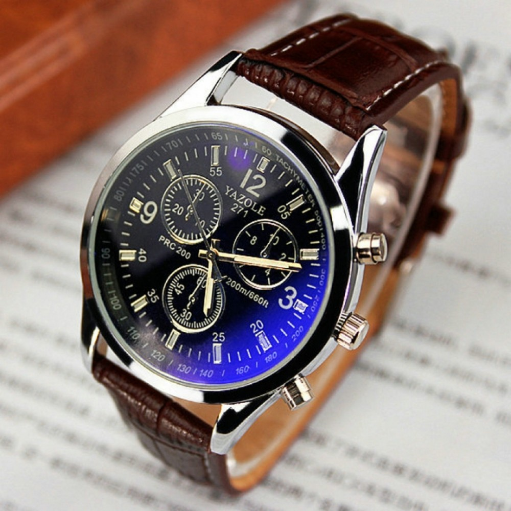 2018men watches Men Business Wristwatch Luxury Famous Male Clock Sports Quartz Watch Valentines Gift black brown one size
