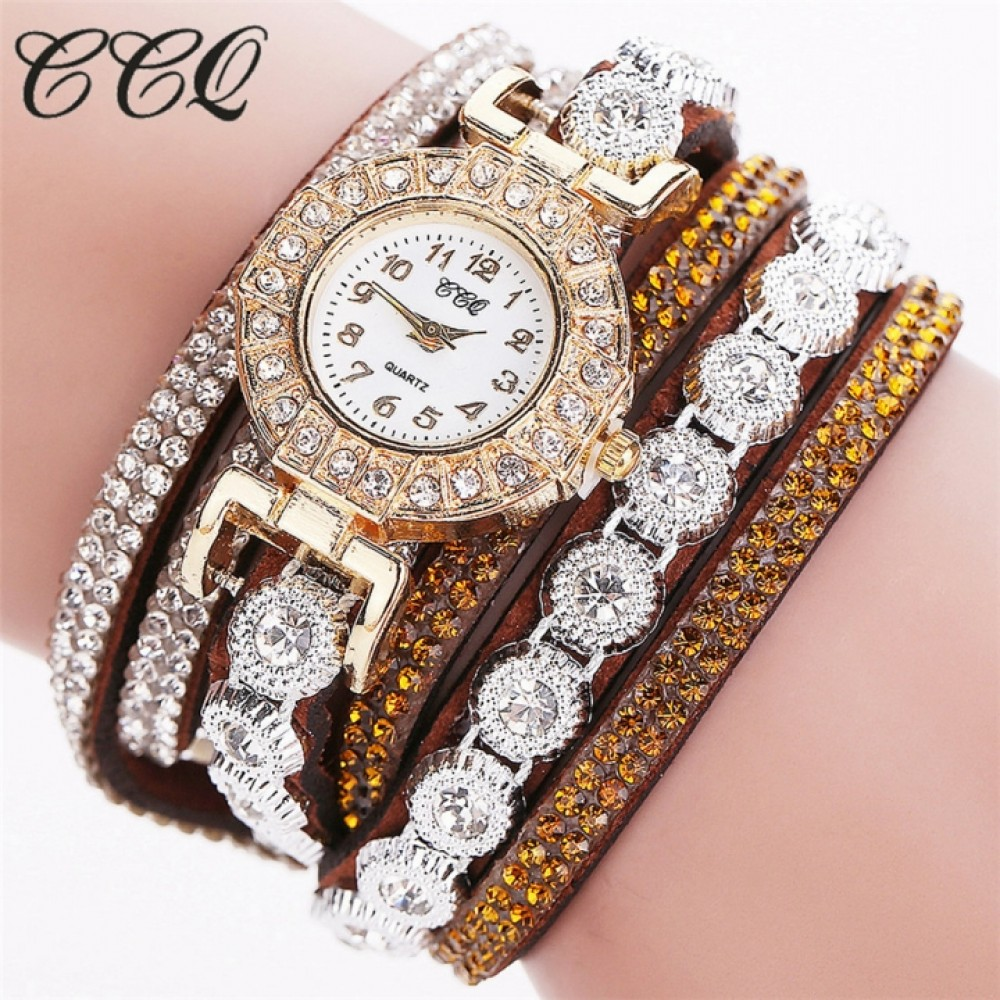 Women's Fashion Watch Quartz Wristwatches Bracelet Fashion Accessory Gift Men Women 14-26cm brown