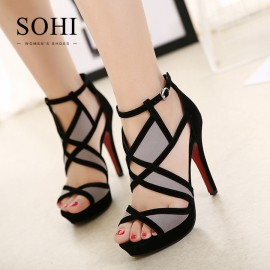 SOHI 1 Pairs Sexy Cross Bandage Buckle Strap Thin ..
