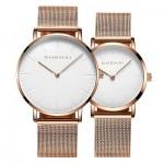 Men's and women's watches fashion couple watch mesh strap waterproof CHENXI quartz watch 076H/Male colour02 diameter:40mm