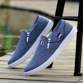 2018 Spring New Men'S Shoes Breathable Casual Canvas Men'S Low-Top Shoes Flat Shoes High Quality blue 39