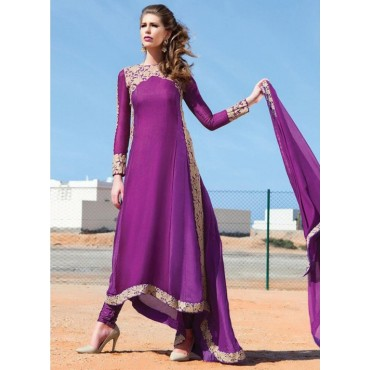 Dresses For Ladies Full-sleeve O-neck Women Elegant Maxi Dresses purple s