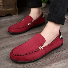 2018 summer new men's shoes peas shoes men's casual shoes low to help men's shoes red 39