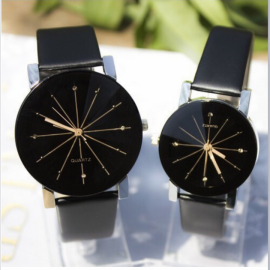 Men Women Wrist Watch Fashion Casual PU Leather St..