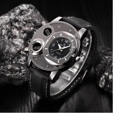 Men's Fashion Wrist Watch Casual Creative Design Sport Wristwatch Quartz Watch black one size