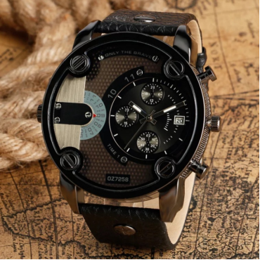 Men's Fashion Wrist Watch Fashion Casual Creative Outlook Sports Wristwatch Quartz Watch black one size