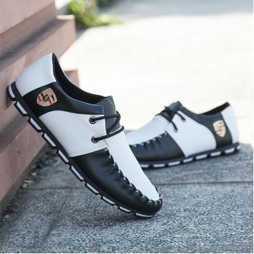Taotao fashion- Mens Shoes Casual Fashion Peas Shoes Leatherwear black and white