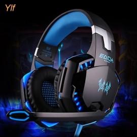 LED 3.5mm Gaming Mic Headset Headphones Stereo For..