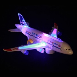 Airbus A380 Electric music flash airplane Children..