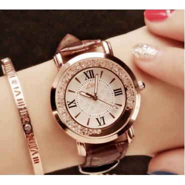 LSVTR genuine lady watch Artificial diamond quartz watch fashionable belt watch for women black