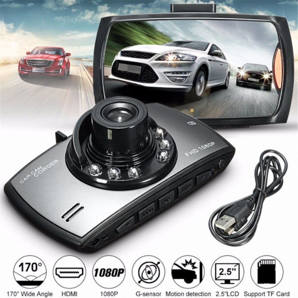Car DVR Camera 170 Wide-angle Car detector Hidden Driving Recorder 1080P HD Cam Car Night Vision