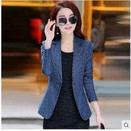 Ladies short blazer jacket elegant one button coat..