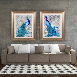 5D Diamonds Plated Embroidery Peacock Painting Hom..