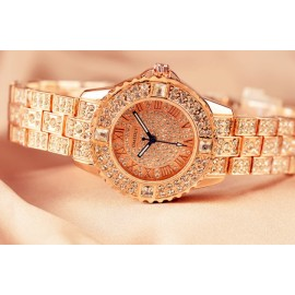 OMEDLY Women's fashion brand rhinestone watch ladi..