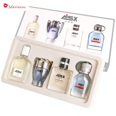 4-piece perfume set lasting light fragrance fresh men's and women's cosmetics perfume Men's suit