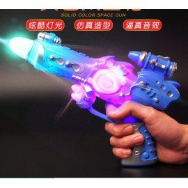 Children's electric sound and light toy gun solid ..