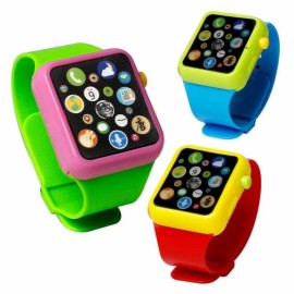 Children Kids Early Education Toy Wrist Watch 3D Touch Screen Music Smart Teaching Baby Blue 1pc