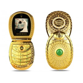 Dual SIM deluxe phone Lady's inlay jewel metal min..