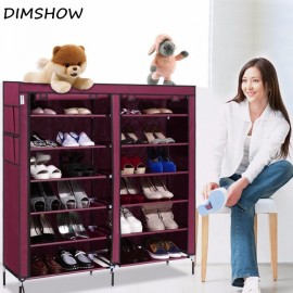 6 Layer 12 Grid Portable Home Shoe Rack Shelf Shoe..