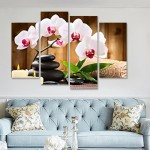 4Pcs Butterfly Orchid Flower Print Room Wall Decor #02 one size