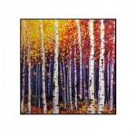 Coloured Drawing Forest Painting Decorative Pictur one color 60cm x 60cm