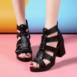 New Fashion Fish Mouth Summer Sandals Women Shoes ..