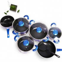 Sundabests 10pcs High Quality Non-stick Cookware High Sauce Pot Set(8060) as the picture 10pcs