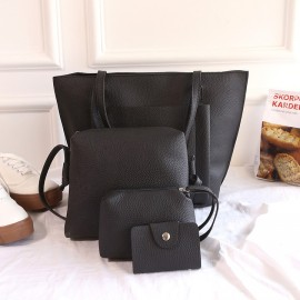 20019 Explosion Promotion, Limited Buying, Four-piece Hand-held Slant Bag black ordinary