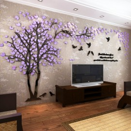 Acrylic Mirror Decals Large Tree 3D Wall Sticker D..