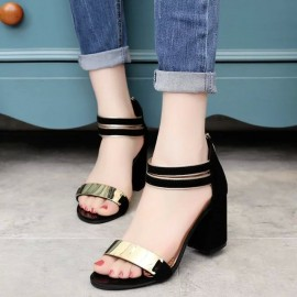 Women Shoes Sandals Summer Ankle Wrap Sandals High..