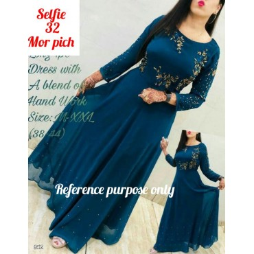 Kurtis with Beautiful embroidery Zari work with real moti hand work