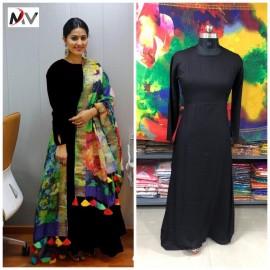 Gown with Digital  Print Dupatta Set Wedding special