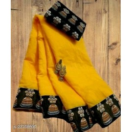Aakarsha Petite Saree yellow