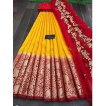 Kanjiveram silk Half Saree