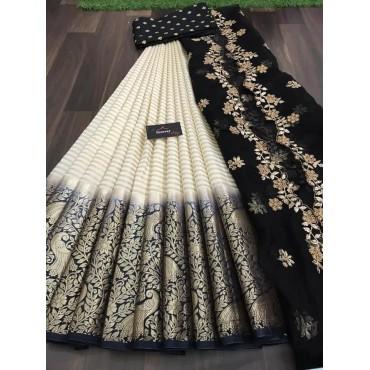 Half Saree Kanjiveram silk