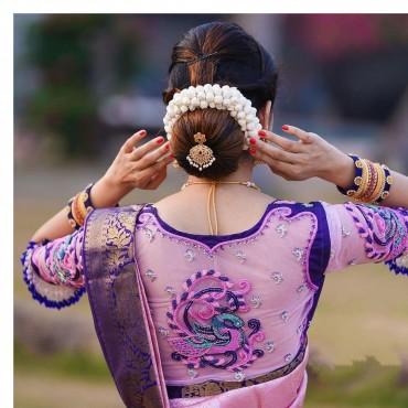 Banarasi Lichi Silk Silver Zari Design Saree