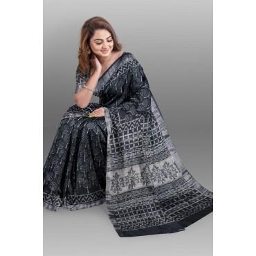 Saree Cotton linen with Blouse