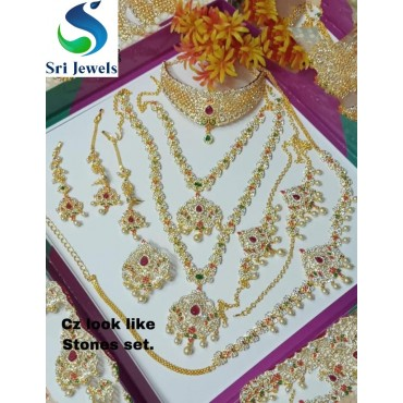 Bridal Grand Stone Set necklaces for women