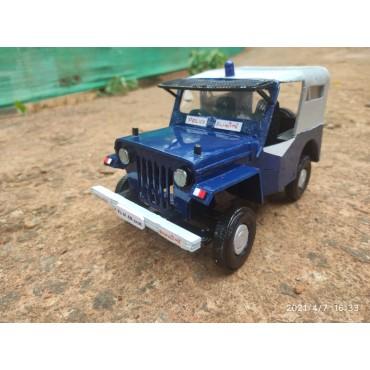 Police Jeep Miniature Replica